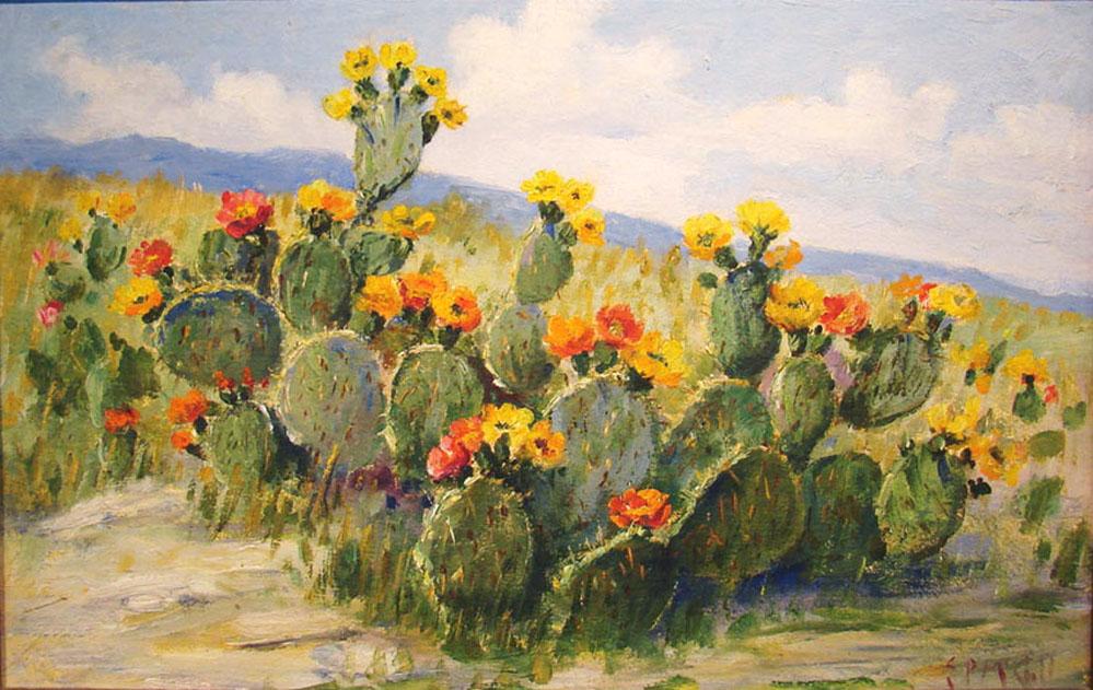 E P Eloise Polk Mcgill Cactus 82 Texas Art