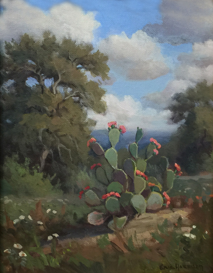 """Cactus with Red Blooms"""