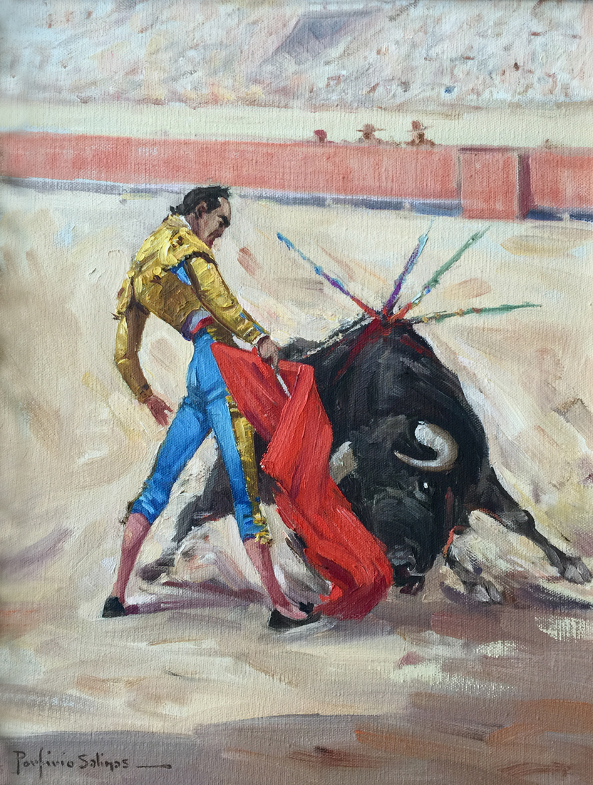 Porfirio Salinas Bullfighter 969 Texas Art