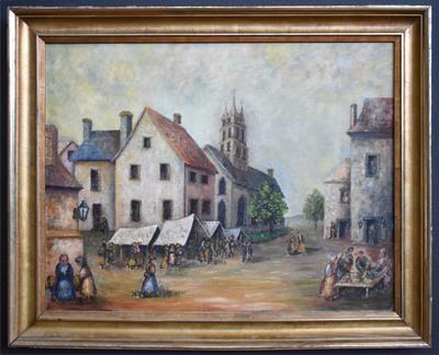 Villagesceneframed