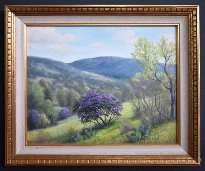Purplebushframed