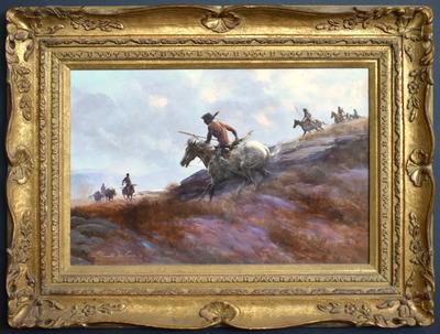 Downhill_horsebackframed