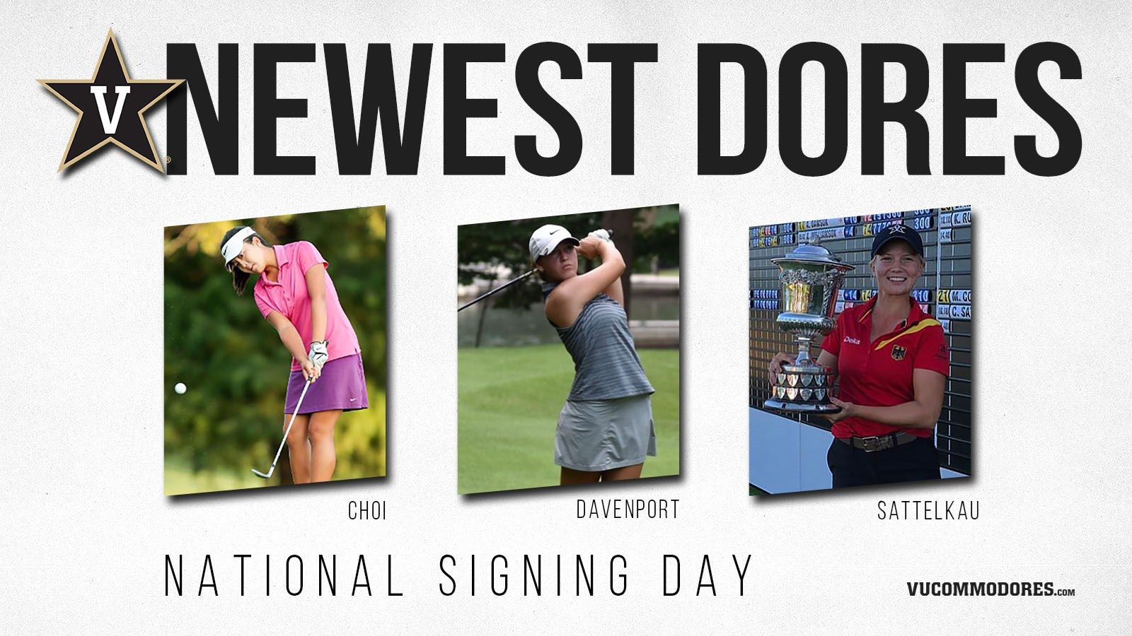 Women's golf National Signing Day graphic