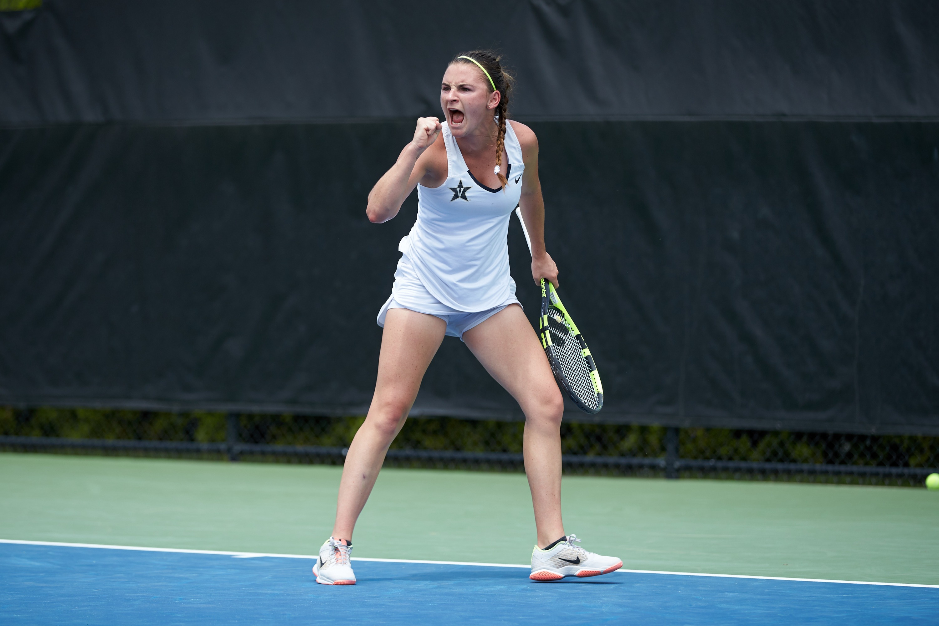 The top-seeded No. 2 Vanderbilt women's tennis team defeated No. 4 Georgia Tech 4-2 in 2018 NCAA semifinals. Photos by Brian Westerholt (5/21/18)  Summer Dvora