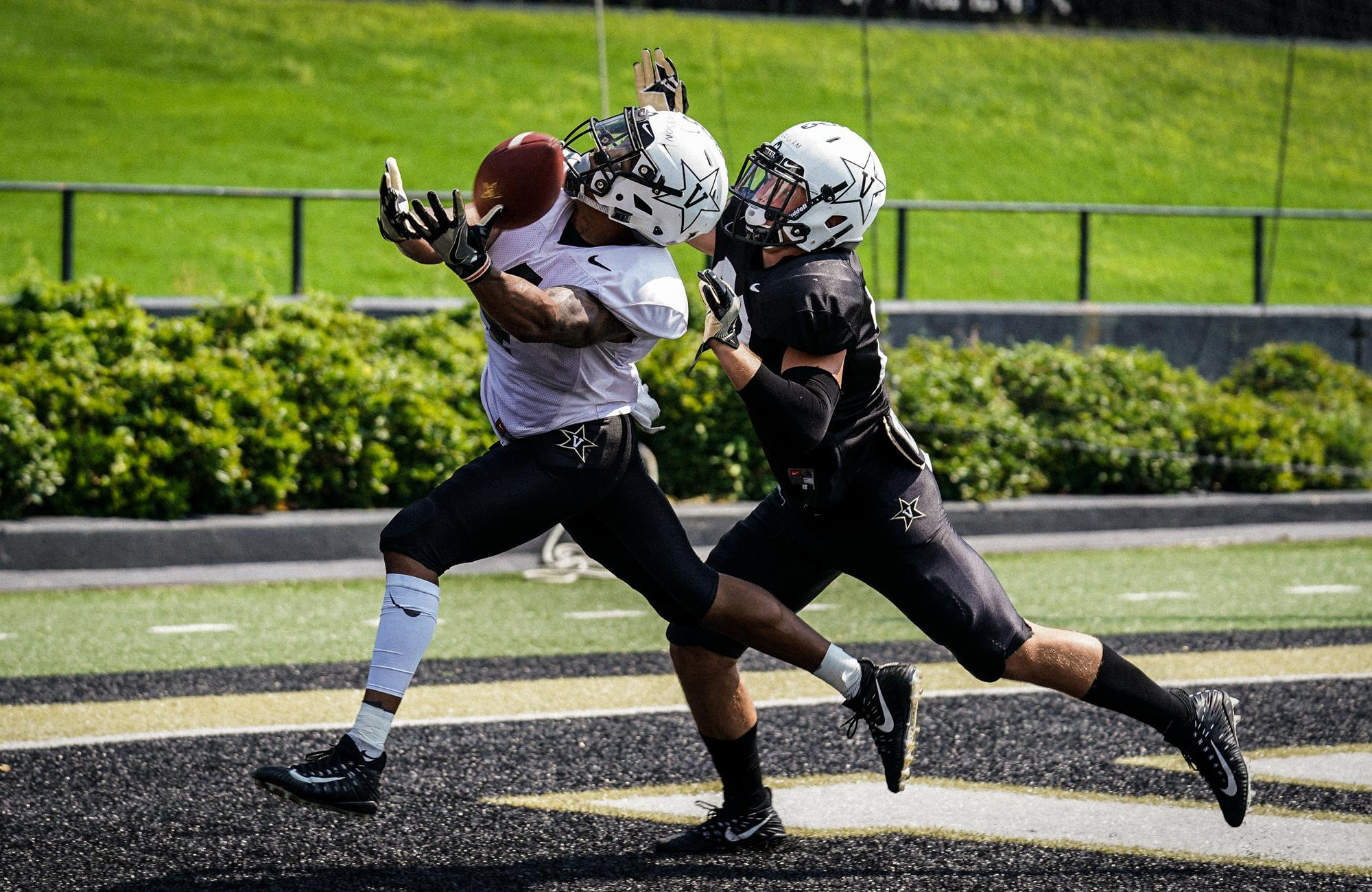 The Dores practiced at Vanderbilt Stadium on Tuesday