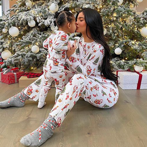 Kylie Jenner and Stormi Set The Holiday Spirit By Making Cookies
