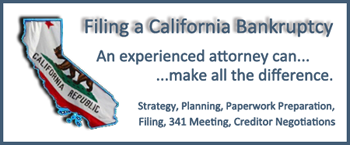 Filing a Bankruptcy Petition In California