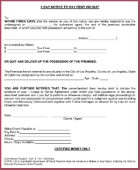 Example Of Tenant Warning Letter Los Angeles