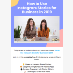 A video email from Later featuring their free Instagram course