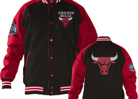 Chicago bulls college jacke rot