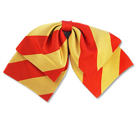 Red & Gold by Umo Lorenzo red silk ladies bow ties
