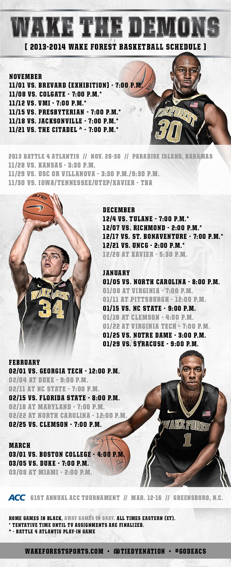 Wake Forest Announces 2013 14 Basketball Schedule Wake Forest