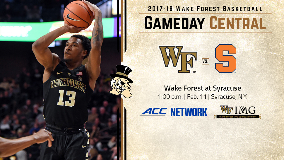 Basketball Gameday Wake Forest At Syracuse Wake Forest