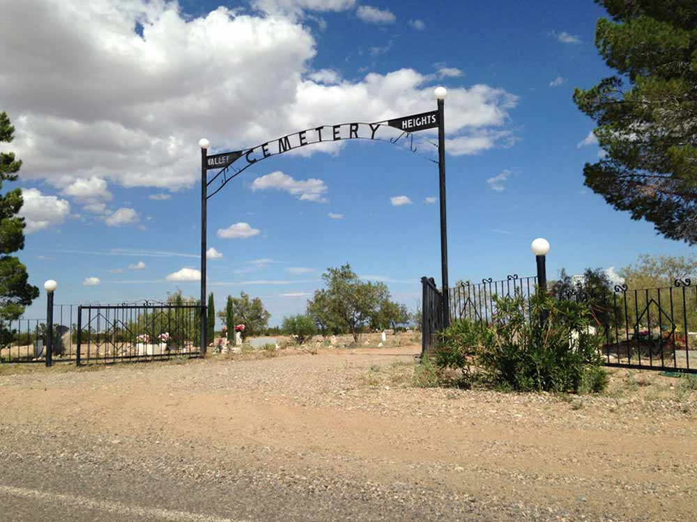 Columbus New Mexico cemetery gate