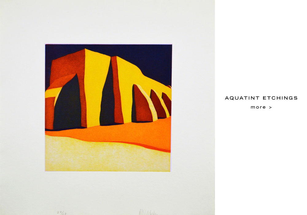 aquatint etchings by Harold Joe Waldrum