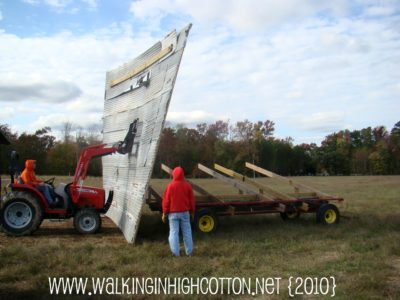 Repair of a mobile shade shelter that blew over in a nor'eastern. 2010. via Walking in High Cotton