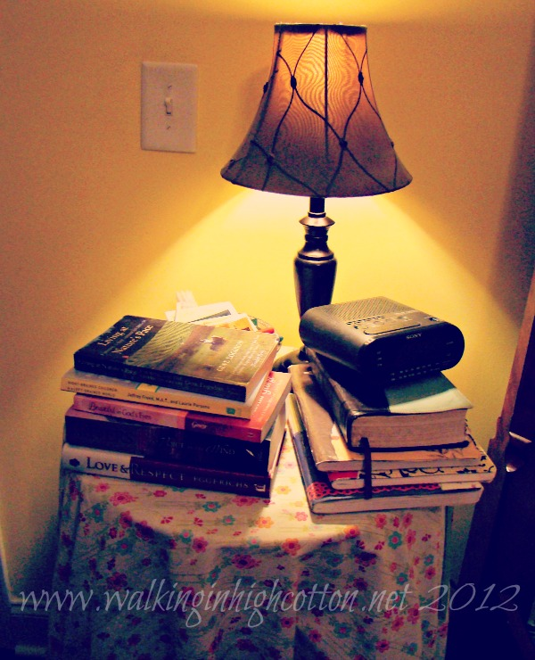 books on nightstand 1