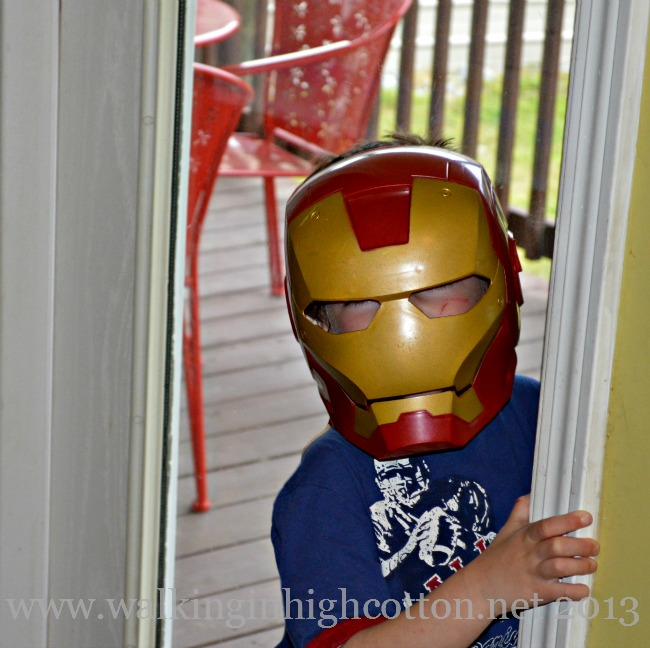 See what happens when you're a no-video-games family? Super Heroes drop in to visit more often.