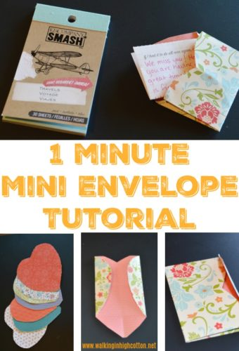 1 Minute Mini Envelope Tutorial for lunchbox notes, camp notes, or any other sending love moment! via Walking in High Cotton