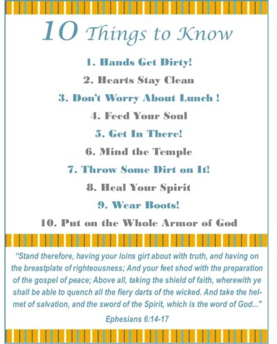 10 things to know FOR BOYS printable via Walking in High Cotton
