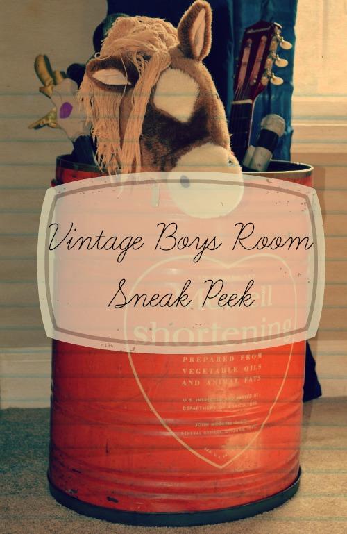 Vintage Boys Room Sneak Peek @ Walking in High Cotton {www.walkinginhighcotton.net}