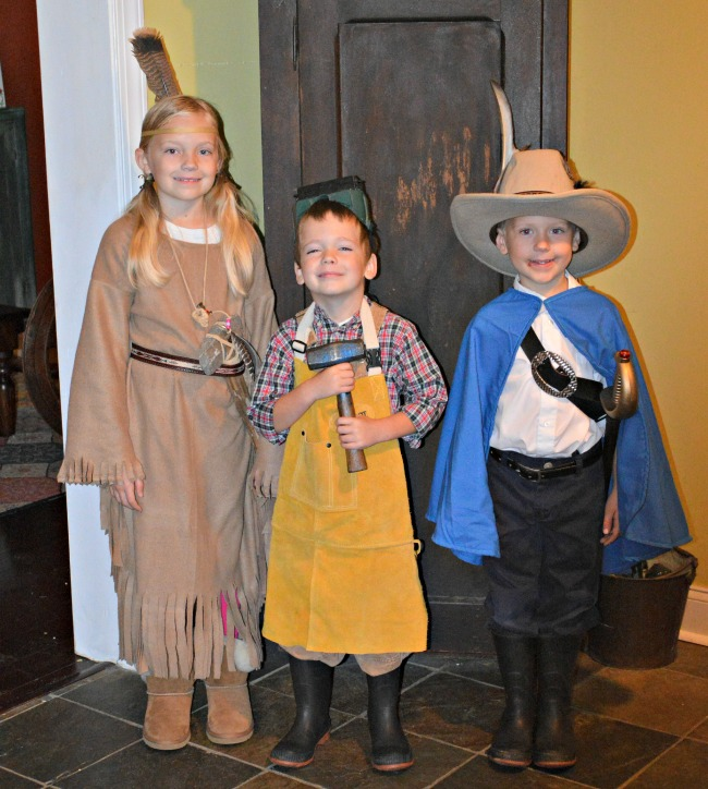 L to R: Pocahontas, John Deere, Captain John Smith