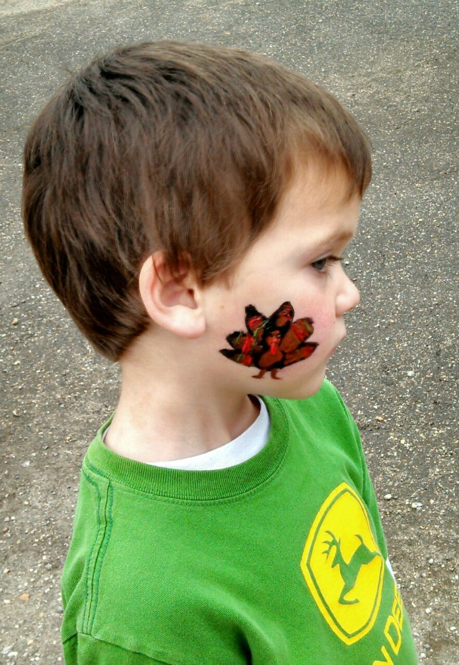 The kiddos beloved Ms. Maya was doing face-painting. Looked pretty good if you ask me!