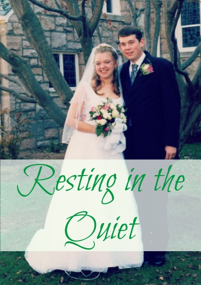 Our marriage is in a quiet place. And that's just fine.