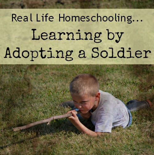 Real Life Homeschooling...Learning by Adopting A Soldier {at www.walkinginhighcotton.net}