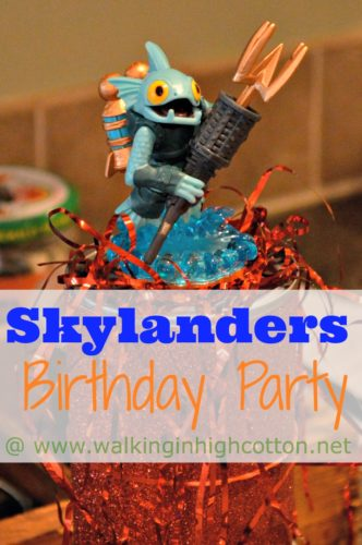 Simple, Homemade, and #Frugal #Skylanders Birthday Part @ www.walkinginhighcotton.net