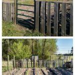 Easy Pallet Garden Fence
