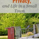 Blogging, Privacy, and Life in a Small Town