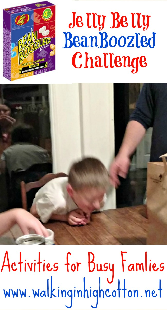 The Jelly Belly BeanBoozled Challenge...Activities for Busy Families {at Walking in High Cotton} plus Coupon Codes!