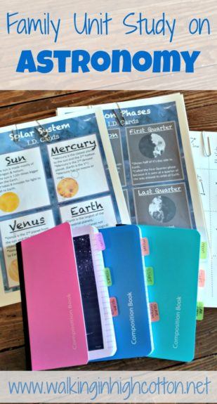 A simple, family-friendly unit study approach to astronomy via Walking in High Cotton