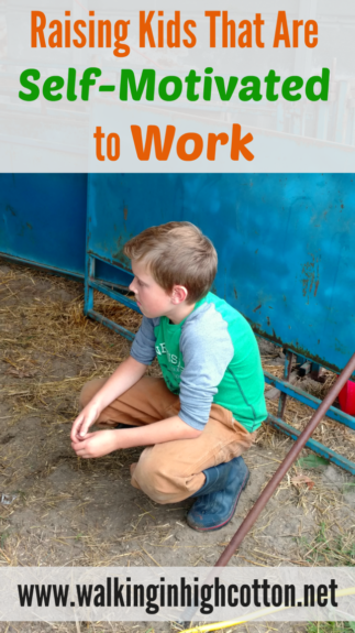Raising Kids that are Self-Motivated to WORK. Real, daily work, not just school work, homework and sports. via Walking in High Cotton
