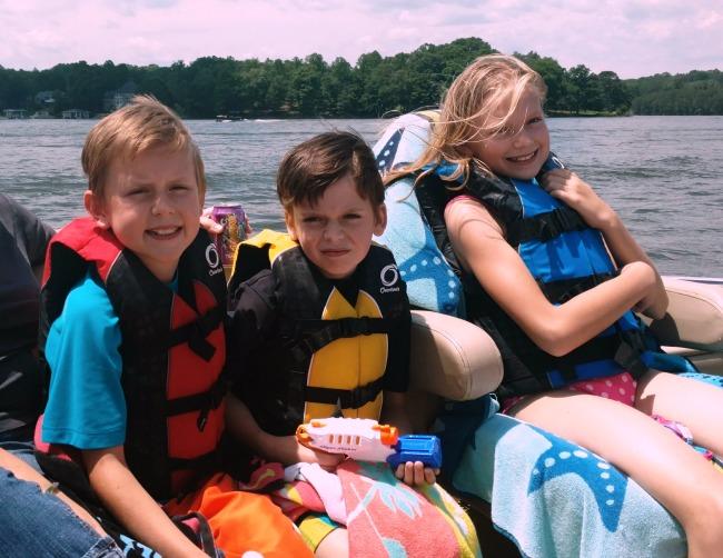 family lake vacation
