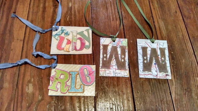 easy diy luggage tags