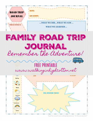 photograph regarding Travel Journal Printable referred to as Household Highway Vacation Magazine Having SmashbooksFree Printable