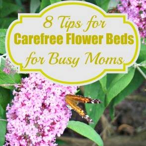 8 Tips for Carefree Flowerbeds for Busy Moms
