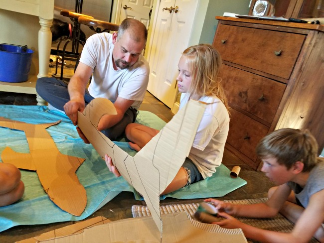 How to Build a Paper Mache shark as a fun, family, hands-on learning project during Shark Week...via Walking in High Cotton