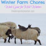 Winter Farm Chores…Work Gear for Mild Winters