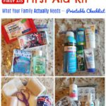 Family Vehicle First Aid Kit…with Printable Checklist