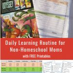 Daily Learning Routine for Non-Homeschooling Moms