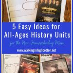 5 Easy Ideas for All-Age US History Lessons for the Non-Homeschooling Mom