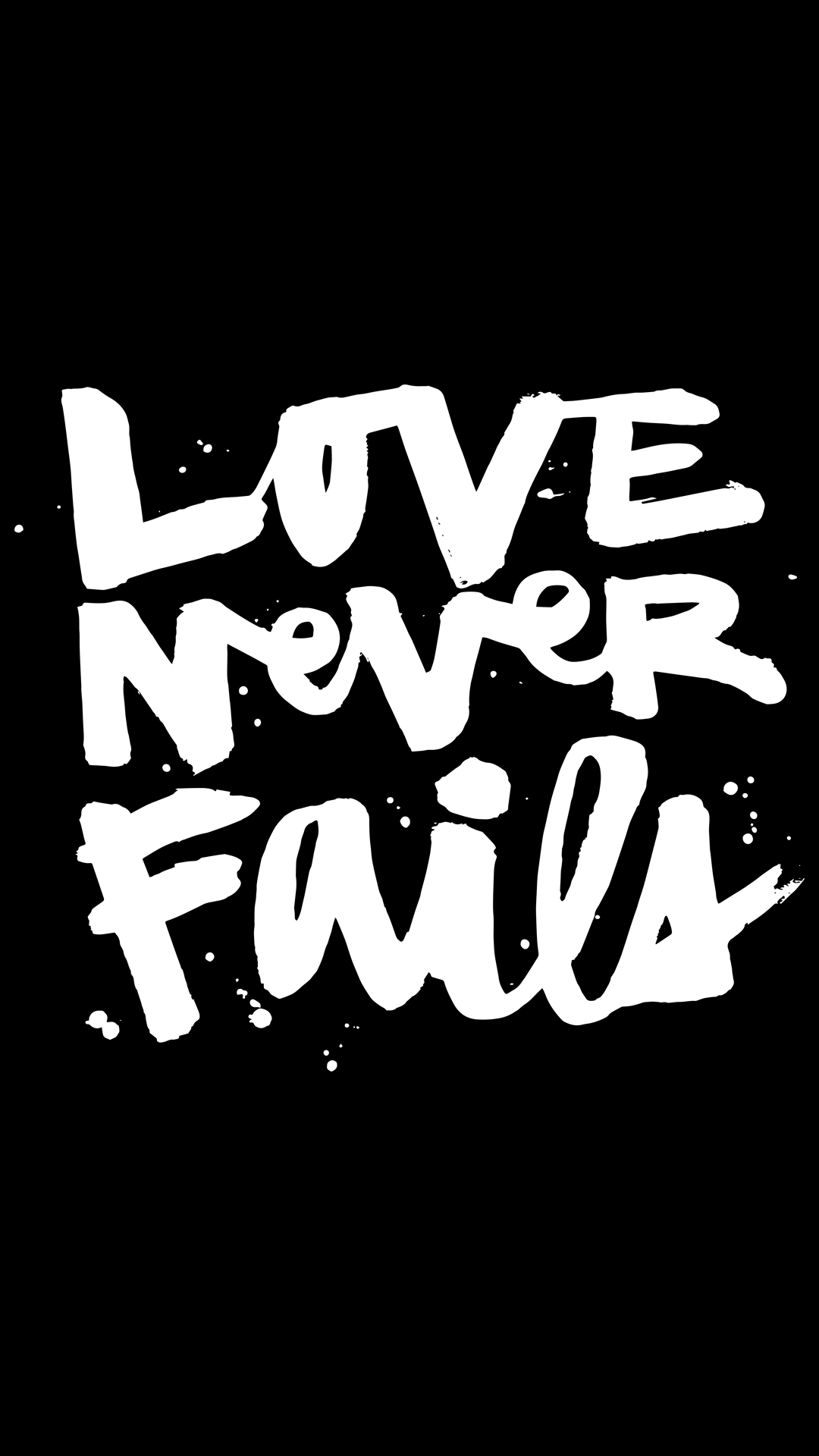 Love Never Fails IPhone 5 5s Black