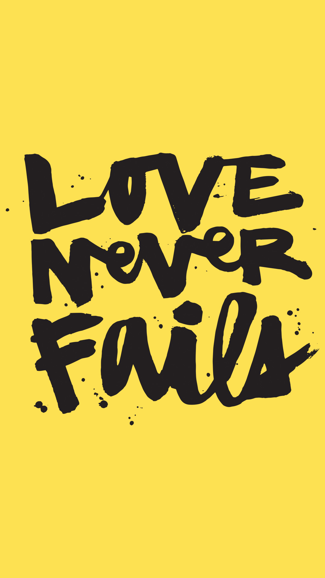 Love Never Fails IPhone 5 5s Yellow