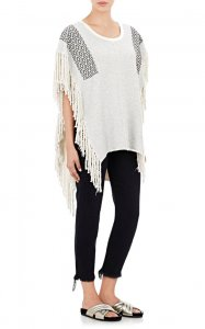 Fringed French Terry Poncho