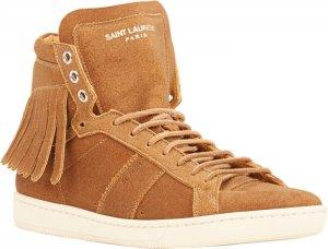 Fringe-Trim Court Classic Sneakers