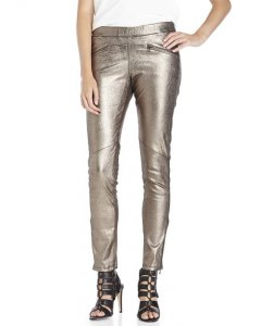 Dash Metallic Leather Pants