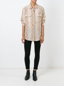 \'Sgnature\' snakeskin shirt